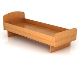 Кровать одноярусная из 51 трубы исиленная для студенческих  общежитий