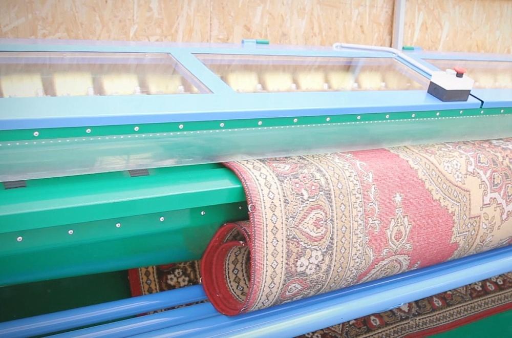 Установка для выбивания пыли из ковров
