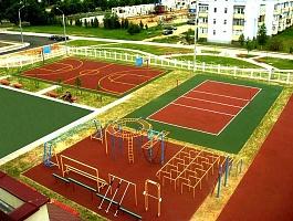 Строительство спортивных, игровых и детских площадок. Поставка и укладка покрытий для спортивных площадок, хоккейная коробка, теннисный корт