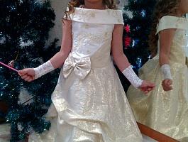 Очень красивое платье к празднику. наш рост 110 см.