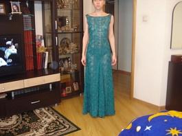 """Платье цвета """"морской волны"""" макси размер 40-42"""