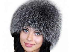 Новая шапка чернобурка (на шапочке) 54 р