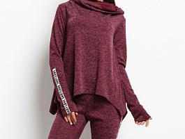 Женский спортивный костюм 16633 бордовый