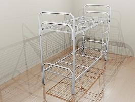 Металлические кровати собственного производства,  кровати двуспальные одноярусные