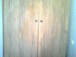 Шкаф из наборной фанеры, самодельный -1 шт.