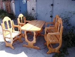 Комплект мебели из дерева