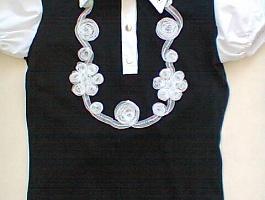 Школьная рубашка обманка новая 122 размер
