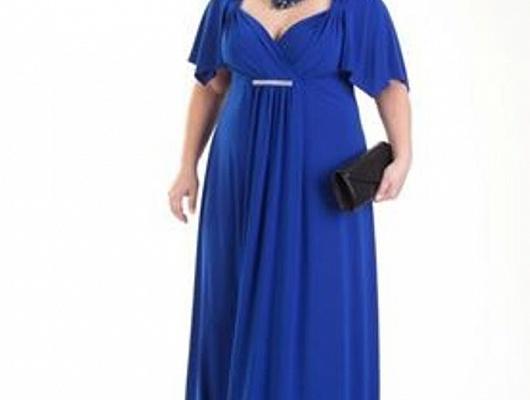 Вечернее платье в пол большого размера