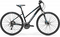Велосипед Merida Crossway 500 Lady Matt Black/Blue/Grey (2017)