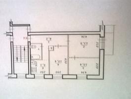 Продается одна-вторая доля трех комнатной квартиры
