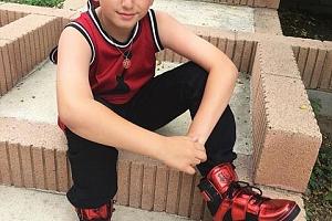 Красный kids Atlas metallic Американские кроссовки